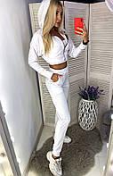 Женский спортивный костюм-тройка(топ, брюки, кофта)