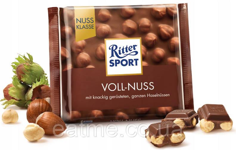 Ritter Sport Молочный шоколад + цельный фундук