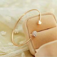 Стильний жіночий браслет з медичної сталі