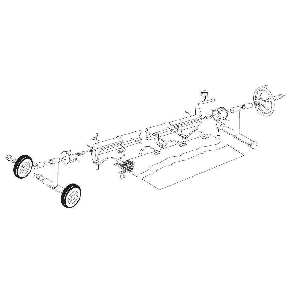 Ролета навивочная мобильная Vagner Pool 6015044 в комплекте - 4,4 м