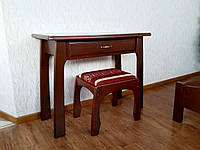 """Туалетный столик с пуфиком """"Для королевы"""" (итальянский орех №462)"""