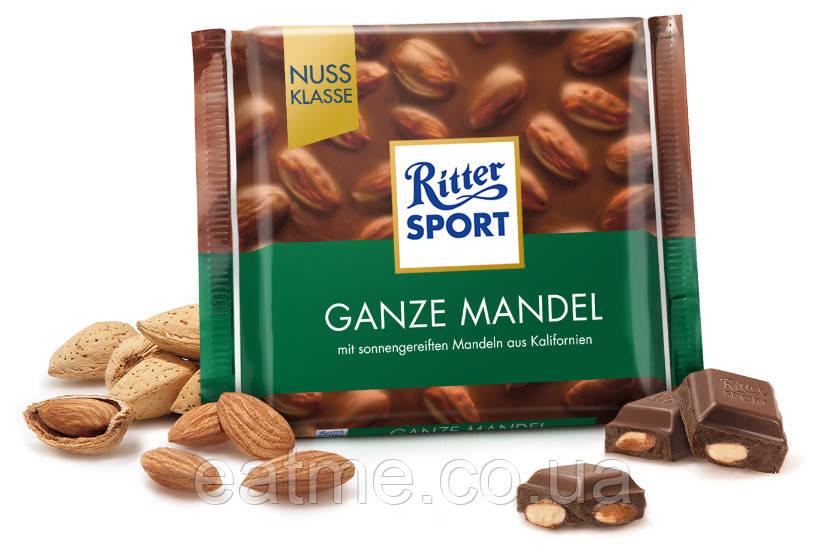 Ritter Sport Молочный шоколад + цельный миндаль