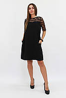 (S, M, L) Коктейльне чорне плаття