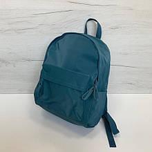 Большой рюкзак гладкая фактура арт.0571 Голубой