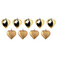 IKEA, ВИНТЕРФЕСТ, Подвесной декор, сердце, золотистого цвета, 6 см, (904.308.78)