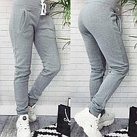 Теплые спортивные штаны из трехнитки на флисе, фото 1