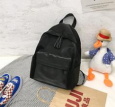 Большой рюкзак гладкая фактура арт.0571 Черный