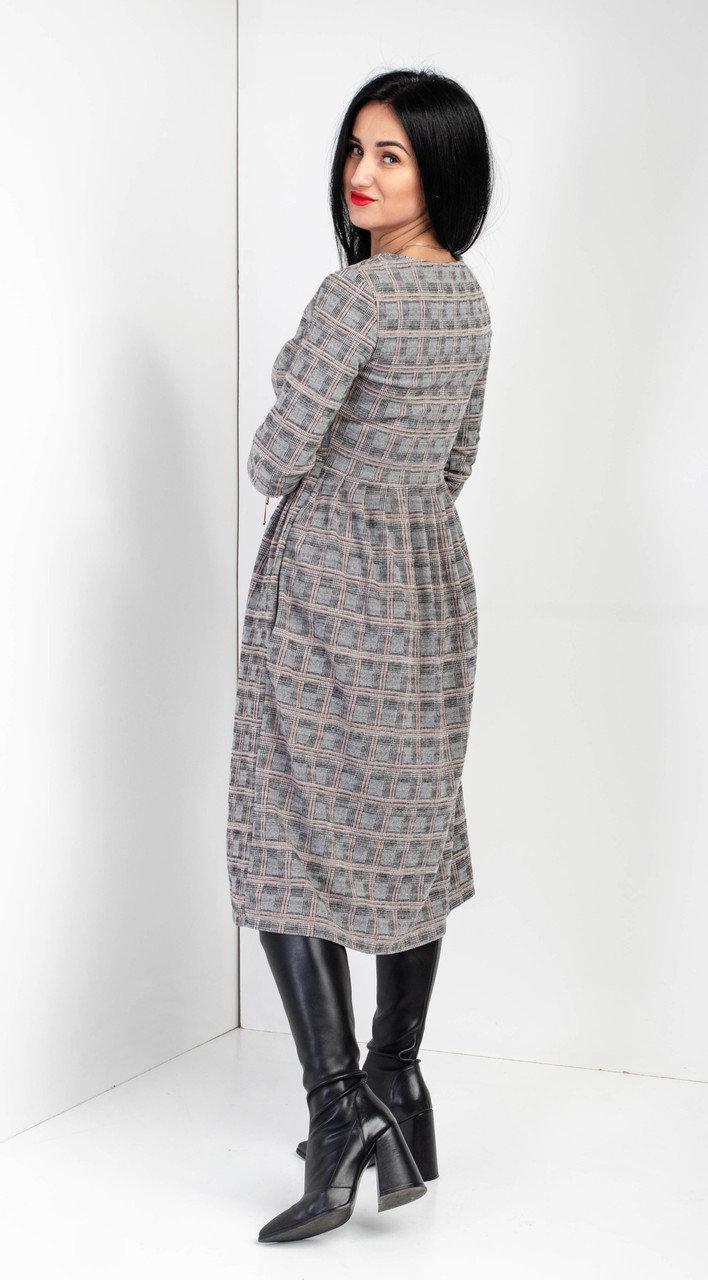 Теплое женское платье миди. Размеры 42