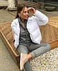 Трендовый объемный дутый пуховик куртка короткий мини теплый зимний черный белый с карманами оверсайз, фото 7