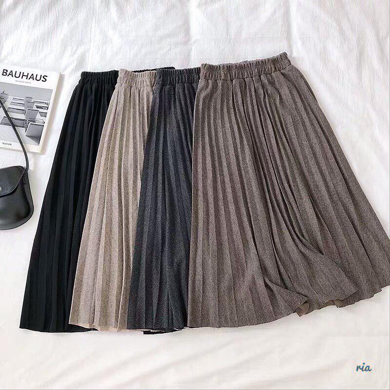 Плиссированная юбка из трикотажа