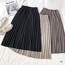 Плиссированная юбка из трикотажа, фото 2