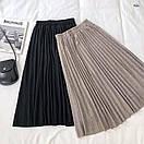 Плиссированная юбка из трикотажа, фото 3