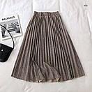 Плиссированная юбка из трикотажа, фото 6