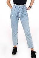 Жіночі джинси МОМ світло-блакитні рвані LOVEST