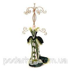 Подставка для украшений Лопес, зеленое платье 41 см