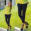 Женские брюки со стрелкой короткие