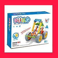 Детский конструктор Build&Play Для мальчиков84 детали Строительные машины Погрузчик