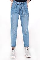 Шикарные джинсы мом  с пояском Турция