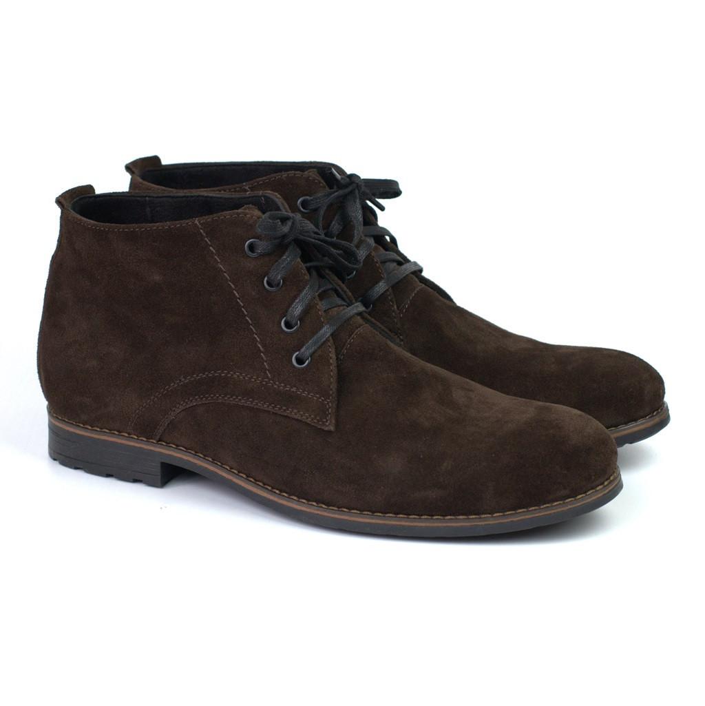 Большой размер замшевые демисезонные полу-ботинки мужские коричневые Rosso Avangard Bonmarano Ckres Vel Brown