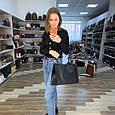 Сумка шоппер с косметичкой в комплекте цепочка на плечо арт.0385 Черный, фото 4