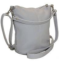 Серая небольшая сумка через плечо из искусственной кожи, фото 1