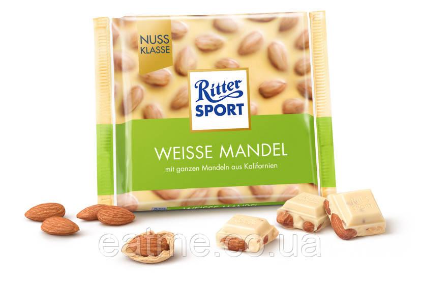 Ritter Sport Белый шоколад + цельный миндаль