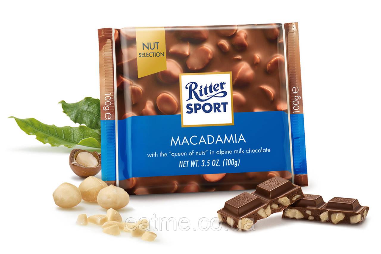 Ritter Sport Молочный шоколад + орех макадамия