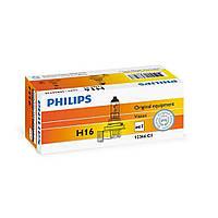 Лампа галогенная Philips H16, 1шт/картон 12366C1