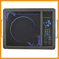Инфракрасная электрическая плита для дома Domotec MS-5842 2000W для кухни (89641)