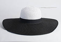 Черно-белая широкополая шляпа