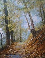 Осенний пейзаж картина маслом купить