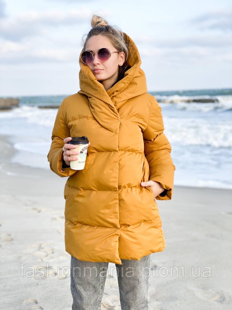 Куртка женская с капюшоном зимняя стеганная