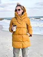 Куртка женская с капюшоном зимняя стеганная, фото 1