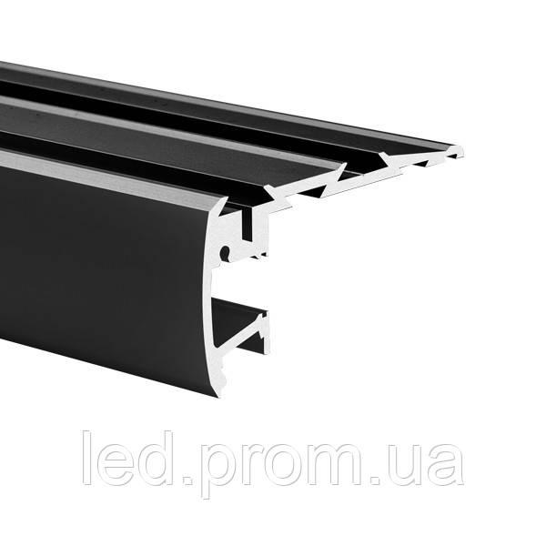 LED-профиль для ступеней STEP черный