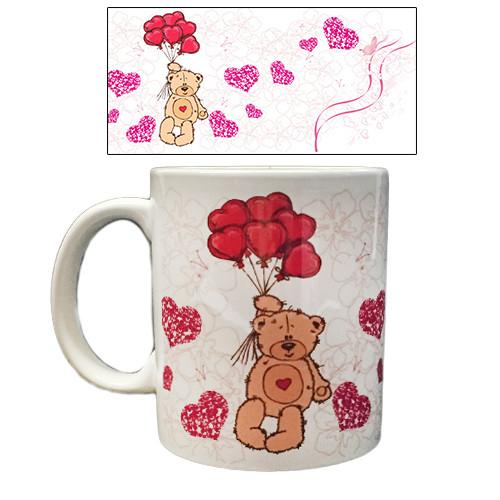 Чашка для чая Мишка с шариками