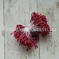 Тычинки бордовые на нитке, фото 1
