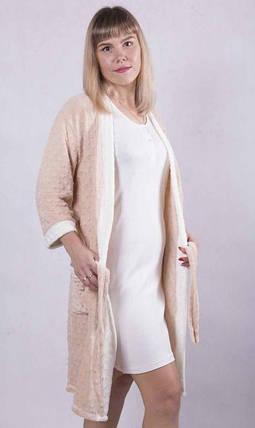 Махровый халат с ночной Капучино, фото 2