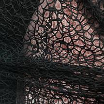 Ткань гипюр (кружево) на сетке черный, фото 2