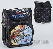 Рюкзак школьный каркасный С 36160, 1 отделение, 3 кармана, спинка ортопедическая, 3D принт