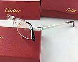 Мужская брендовая оправа в стиле Cartier 8201036, фото 2