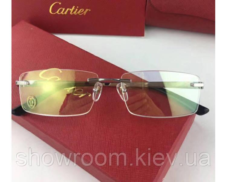 Мужская брендовая оправа в стиле Cartier 8201036