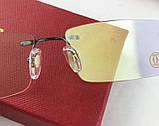 Мужская брендовая оправа в стиле Cartier 8201036, фото 4