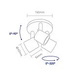 Спотовий світлодіодний світильник (бра) GLOBAL 3-GSL-21241-CB 3x4W 4100K Чорний, фото 3