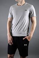 """Мужской комплект футболка + шорты Under Armour черного и серого цвета """""""" В стиле Under Armour """""""""""