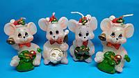 Свечи декоративные  Крысы Новый год 2020 размер 6*4 см