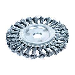 Щетка проволочная дискообразная Ø125мм Ø16.0мм (стальная витая) Sigma (9022131)