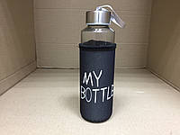 Термобутылка в чехле «My bottle» 400 мл. / Черный чехол, фото 1