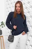 Зручний однотонний светр в стилі oversize з якісної м'якої пряжі, фото 1