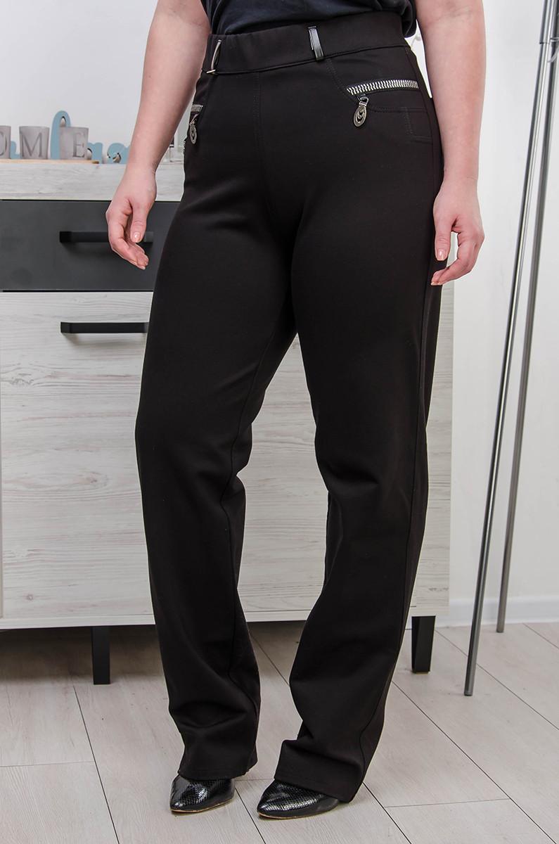 Женские брюки большой размер Утяжка на флисе  (52-60)