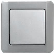 ВСп10-1-0-ГЖ Выключатель одноклавишный проходной (жемчужный металлик)